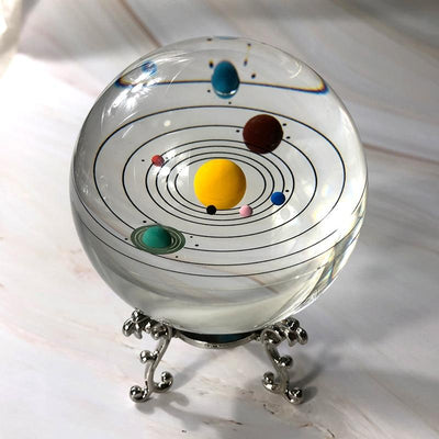 80mm Colorful Solaris Crystal Globe Crystal Globe Wat Crate