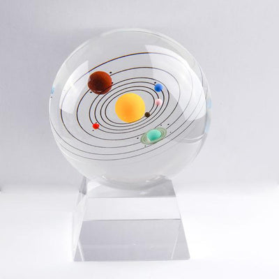 80mm Colorful Solaris Crystal Globe Crystal Globe Wat Crate With crystal base