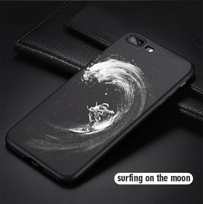 Astronaut & Moon iPhone Cases Phone Case Wat Crate