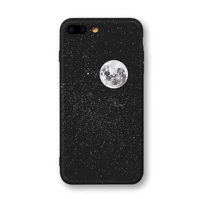Astronaut & Moon iPhone Cases Phone Case Wat Crate Moon for iphone 7 plus Case & Strap
