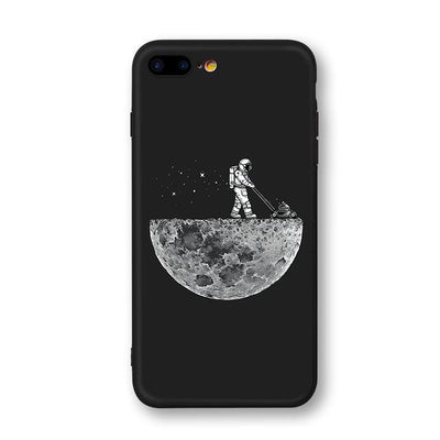 Astronaut & Moon iPhone Cases Phone Case Wat Crate Repair the moon for iphone 7 plus Case & Strap