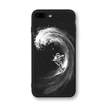 Astronaut & Moon iPhone Cases Phone Case Wat Crate Surfing for iphone 7 plus Case & Strap