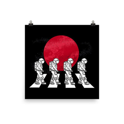Astronauts On The Mars Crosswalk - Custom Designed Poster Wat Crate 12×12