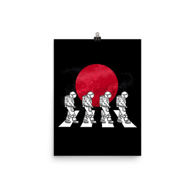 Astronauts On The Mars Crosswalk - Custom Designed Poster Wat Crate 12×16