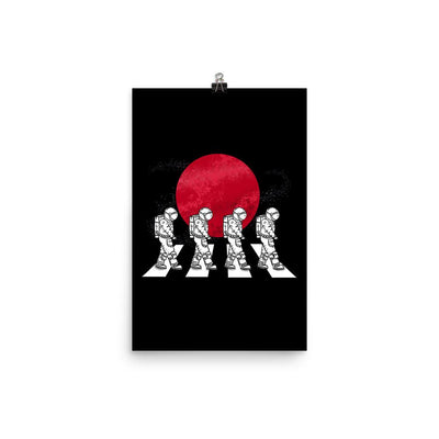 Astronauts On The Mars Crosswalk - Custom Designed Poster Wat Crate 12×18