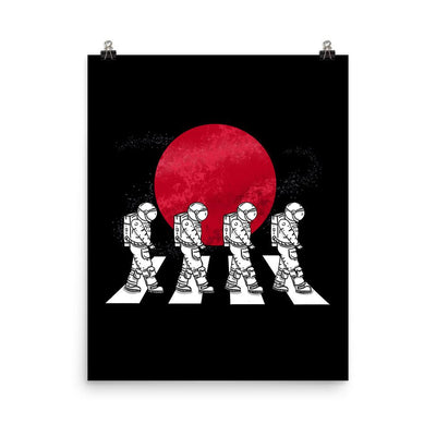 Astronauts On The Mars Crosswalk - Custom Designed Poster Wat Crate 16×20