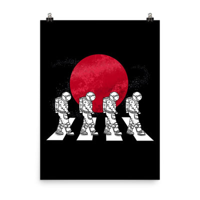 Astronauts On The Mars Crosswalk - Custom Designed Poster Wat Crate 18×24
