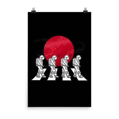 Astronauts On The Mars Crosswalk - Custom Designed Poster Wat Crate 24×36