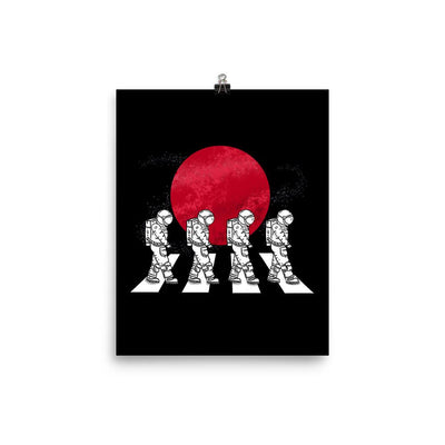Astronauts On The Mars Crosswalk - Custom Designed Poster Wat Crate 8×10
