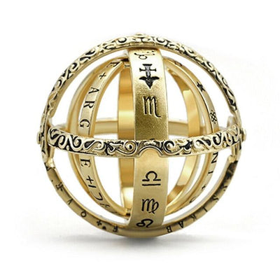Astronomical Sphere Ring - The Universe On Your Finger Rings Wat Crate 10 (62.1mm) GOLD