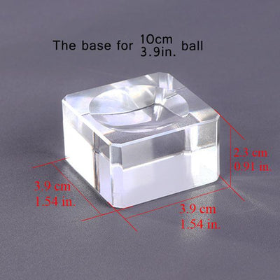 Crystal Globe Base Holder - All Diameters Crystal Globe Wat Crate 100mm Crystal Base