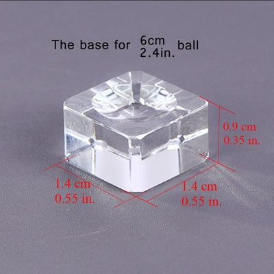 Crystal Globe Base Holder - All Diameters Crystal Globe Wat Crate 60mm Crystal Base
