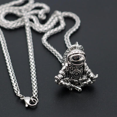 Meditating Spaceman Necklace Necklace Wat Crate