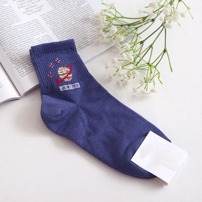 Minimalist Creative Space Socks Socks Wat Crate Dark Blue Socks