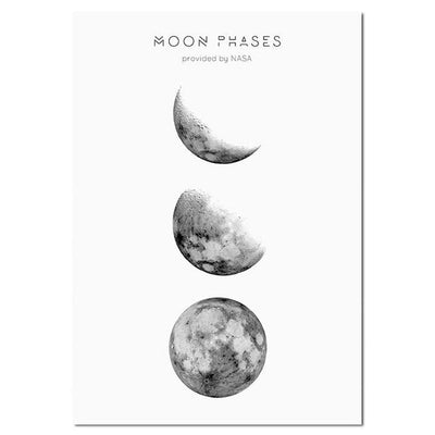 Moon Phases Canvas - 5 Models Canvas Wat Crate 13x18cm Unframed Picture 2