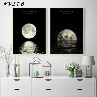 Moon Phases Canvas - 5 Models Canvas Wat Crate