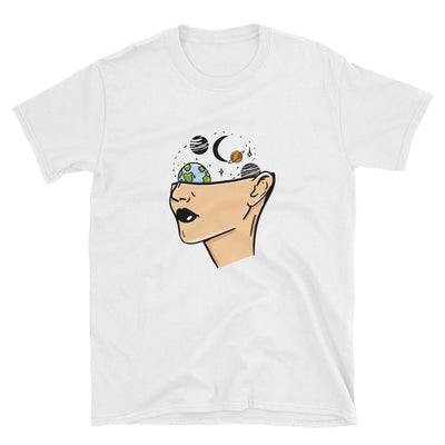 Space Head - Custom Designed T-Shirt Wat Crate White S