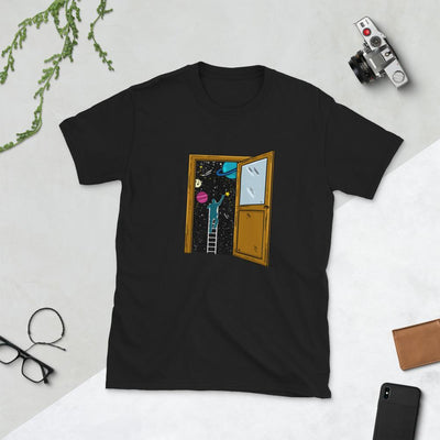 Space Lover's Soul Door - Custom Designed T-Shirt Wat Crate Black S