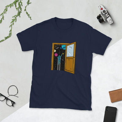 Space Lover's Soul Door - Custom Designed T-Shirt Wat Crate Navy S