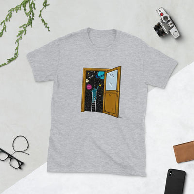 Space Lover's Soul Door - Custom Designed T-Shirt Wat Crate Sport Grey S