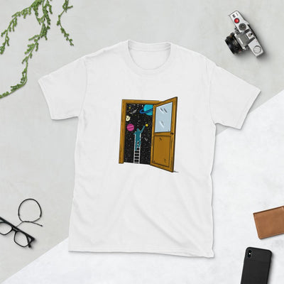 Space Lover's Soul Door - Custom Designed T-Shirt Wat Crate White S
