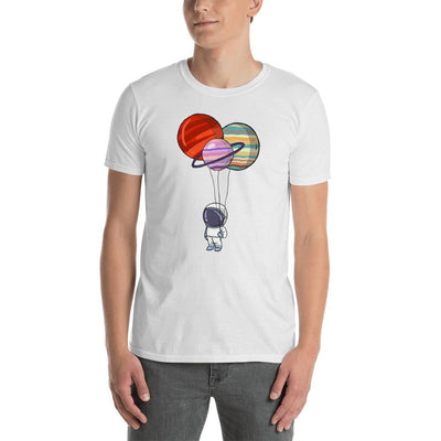 Spaceman And The Planets - Custom Designed T-Shirt T-Shirt Wat Crate White S