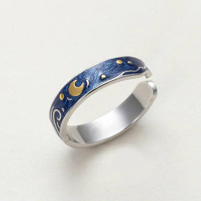 Starry Night Van Gogh Couples Rings Rings Wat Crate Resizable - Open End Type A