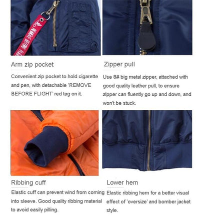 Thick Apollo Bomber Jacket - 100th Space Shuttle Mission Jacket Wat Crate