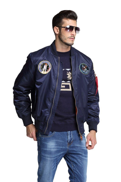 Thin Apollo Bomber Jacket - 100th Space Shuttle Mission Jacket Wat Crate