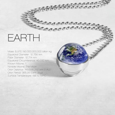 Unique Solar System Necklace Wat Crate Earth