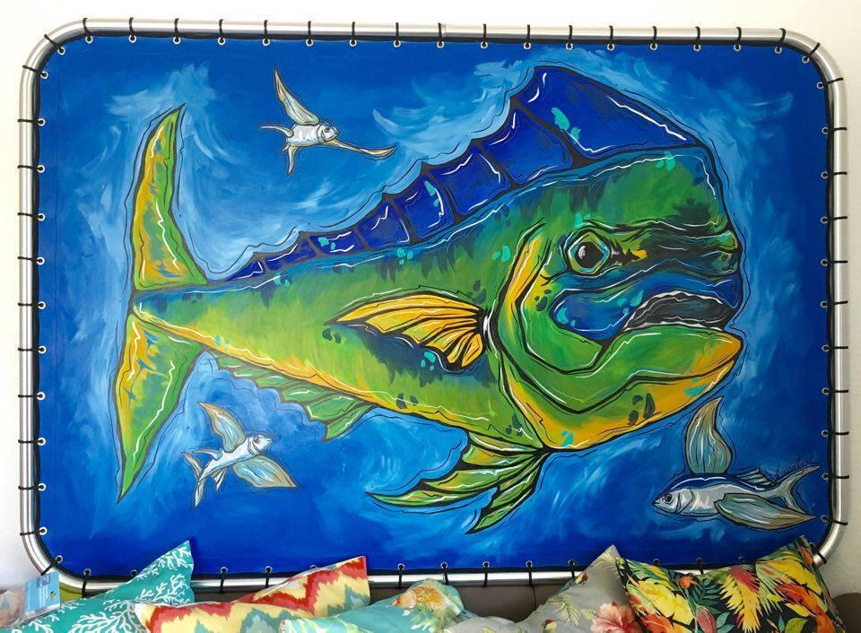 SOLD T-Top Framed Mahi Original