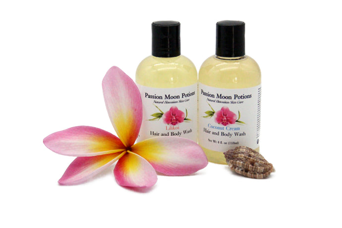 Natural Hawaiian Hair & Body Wash, 4oz - Great Souvenir from Hawaii