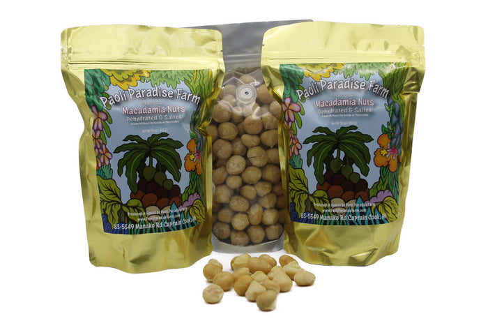 Premium dehydrated whole Macadamia Nuts from the Big Island, Hawaii - Great Souvenir from Hawaii