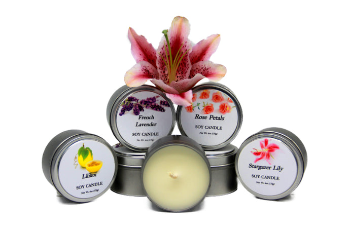 Natural Hawaiian Soy Candles, 6oz