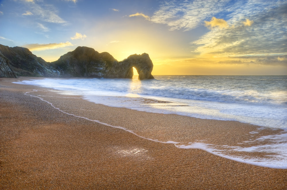Durdle Door in Dorset at sunrise