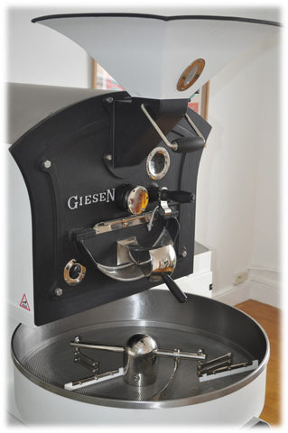 Our electric Giesen coffee roaster