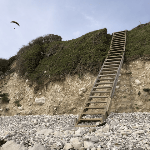The ladder to take you to the base of the Smuggler's path