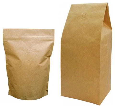 Biodegradable packaging showing 250g and 1kg
