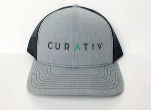 Grey/Black Curativ Truck Hat