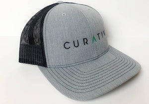 Grey/Black Curativ Truck Hat Angle