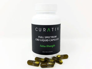 Curativ Full Spectrum Extra Strength Liquid Capsules - 25mg