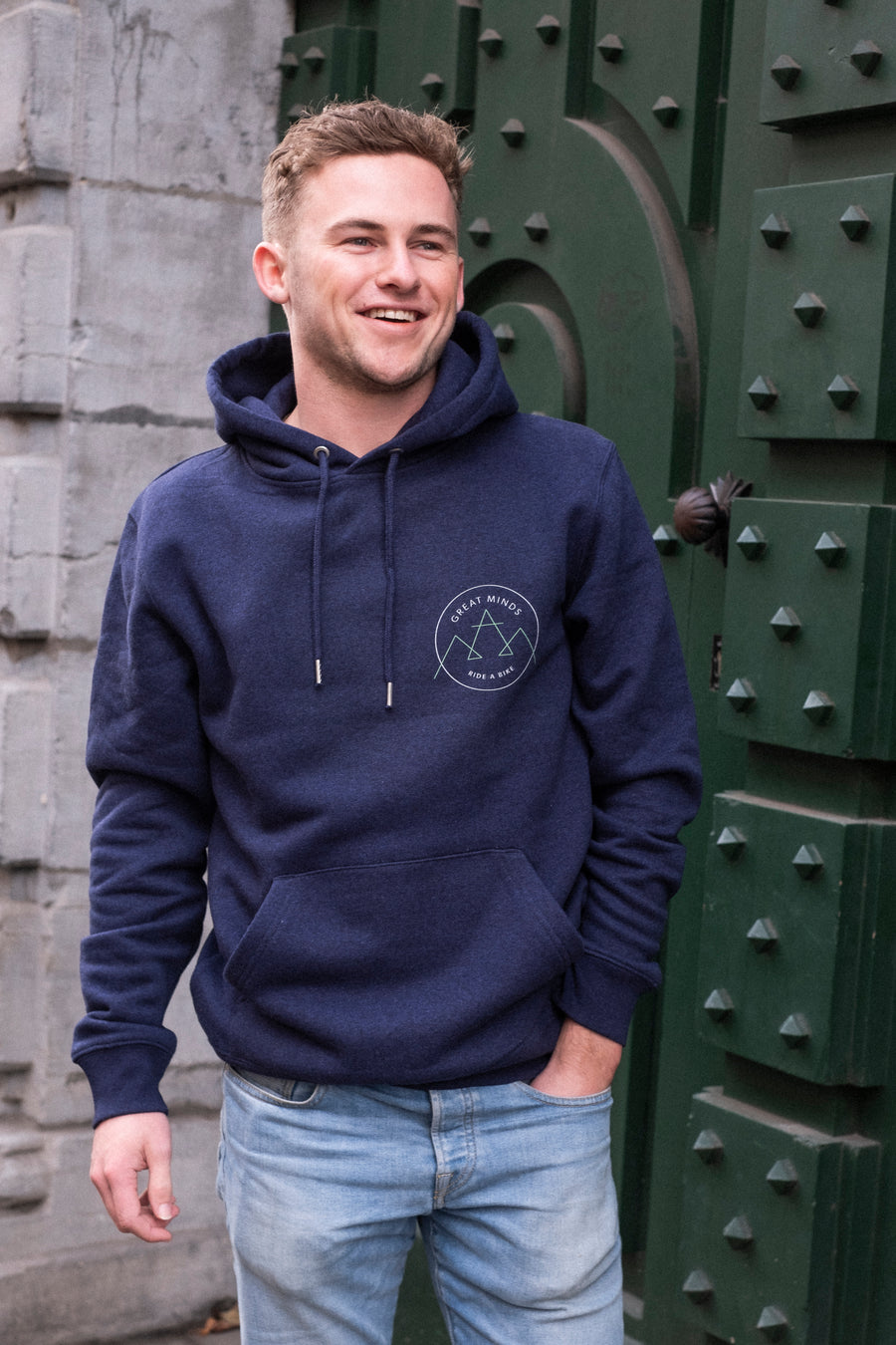 Great minds, ride a bike hoodie - Joh Clothing