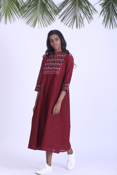 Khadi cotton dress