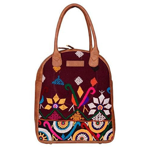 Gypsy banjara bag, vegan boho bag, hand embroidered hippie tote bag