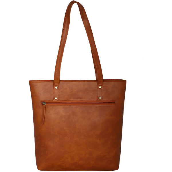 Bohemian large Tote bag crafted from hand woven fabric and vegan leather