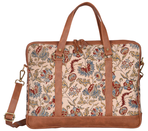 "Andhra Hand Kalamkari Laptop Bag (13"" to 15"")"
