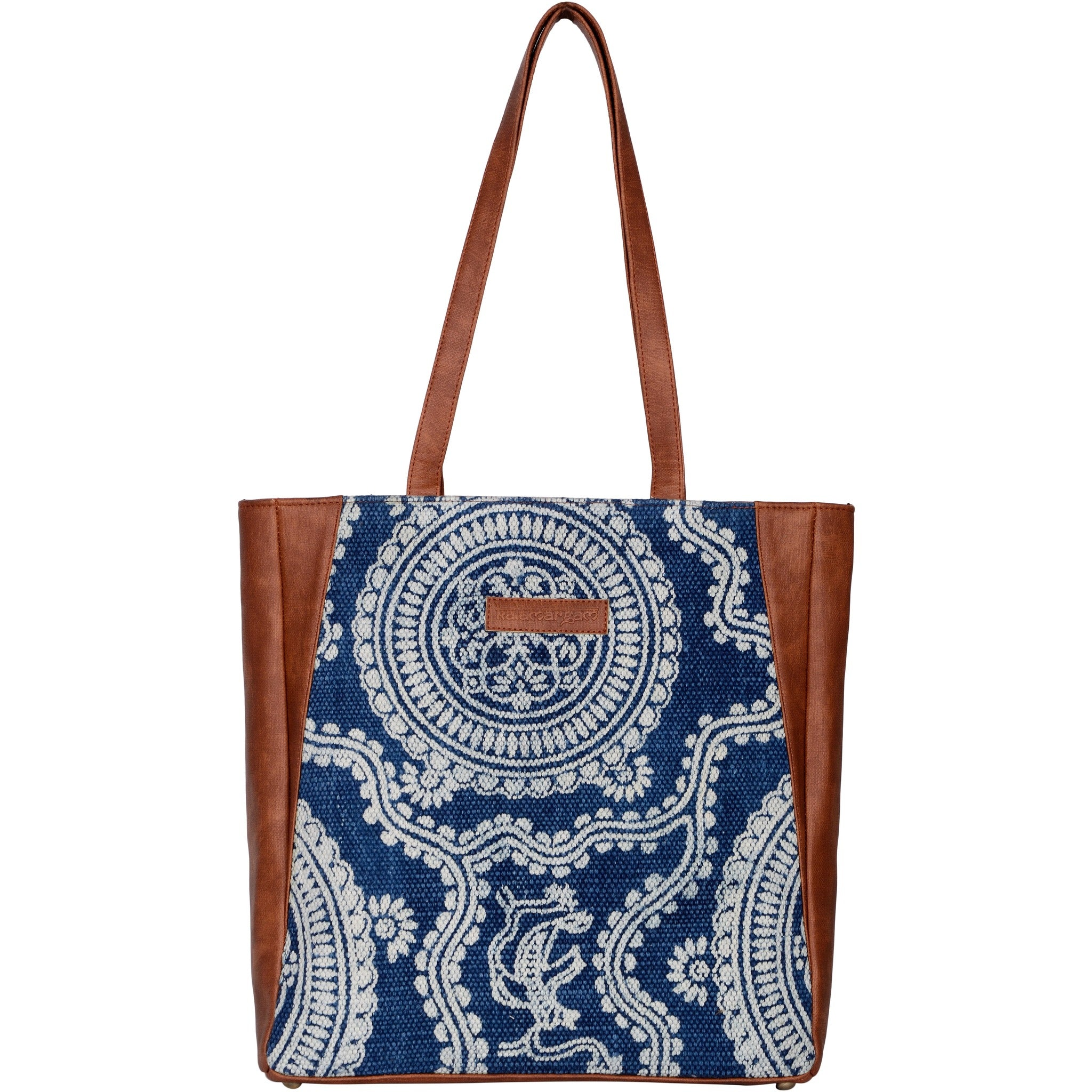 Desert Kilim & Vegan Leather Tote Bag