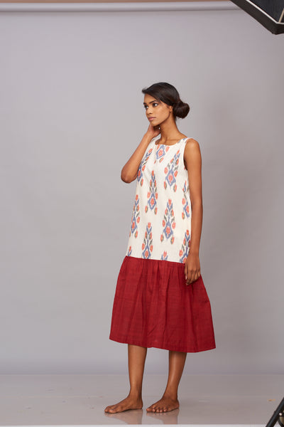 Ikat khadi midi dress