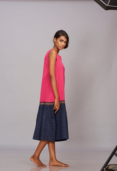 Khadi ikat tier dress