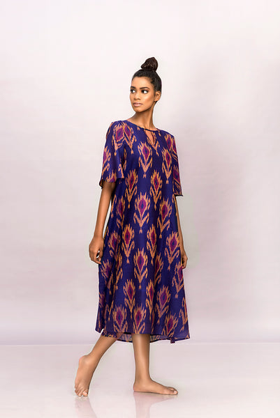 Handwoven ikat dress